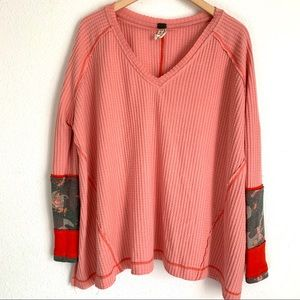 Free people extreme oversize thermal top